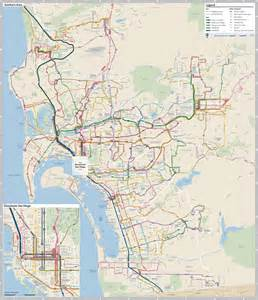 San Diego Bus Map by San Diego County Transit Maplets