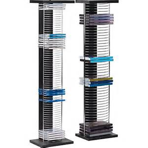 Dvd Storage Units Black Dvd And Cd Media Storage Tower Unit Black And Chrome