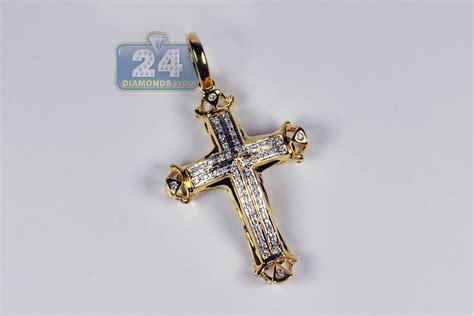 mens cheap cross pendant 10k yellow gold 0 17 ct