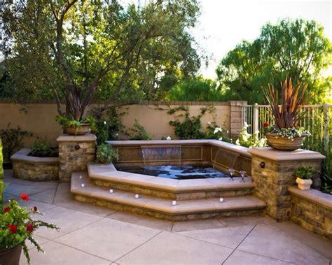 backyard spa hot tub idea detached from pool backyard inspiration