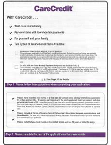 Care Credit Application Form Patient Information
