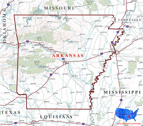 us map where is arkansas arkansas maps