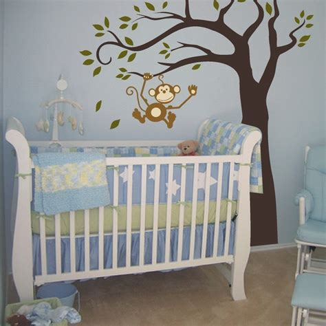 Decor Nursery Monkey Baby Room Decor Home Design Inside