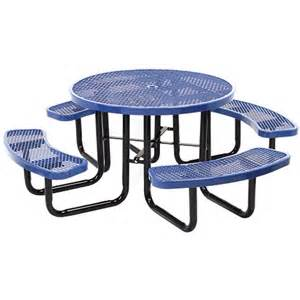Commercial Metal Outdoor Furniture Commercial Outdoor 46 Quot Round Expanded Metal Table Select