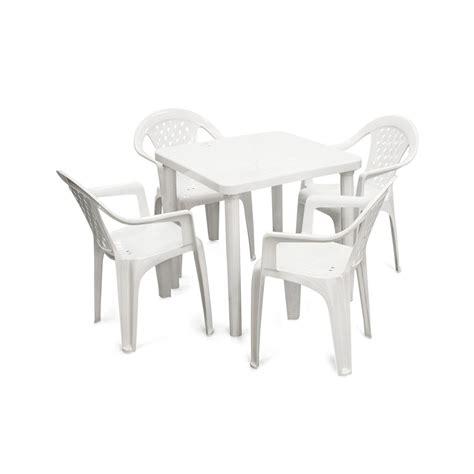 comedor de plastico kina  mesa   sillas promart