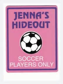 personalized soccer bedroom door sign