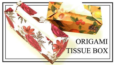 Origami Tissue Box - ティッシュケースの作り方 origami tissue box doovi