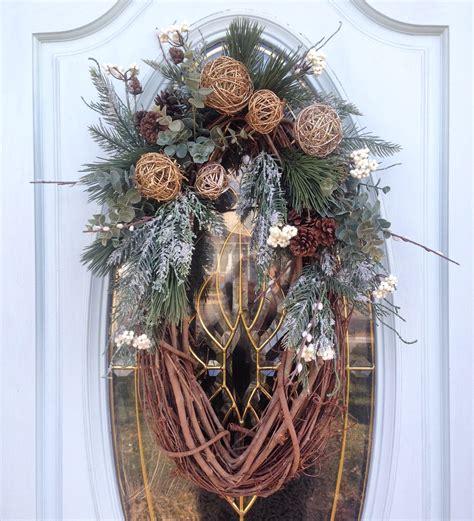 winter wreath  put    front door crafts