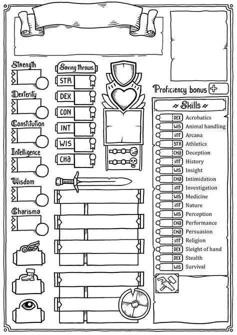 dnd 5th edition template 3x5 card jo s custom character sheet dungeon masters guild