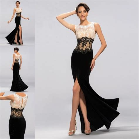 formal dresses black and white discount evening dresses