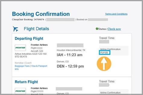 Confirmation Letter For Airport Up Confirmation Code Frontier Airlines