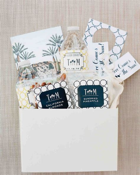Wedding Welcome Bags by 80 Welcome Bags From Real Weddings Martha Stewart Weddings