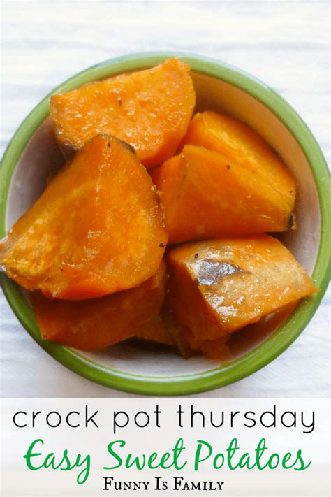 crock pot easy sweet potatoes funny is family