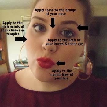 where do you put your makeup on where do you put highlighter makeup on your makeup vidalondon