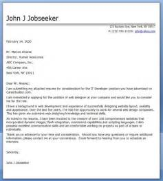Cover Letter Cv It It Developer Cover Letter Exles Resume Downloads