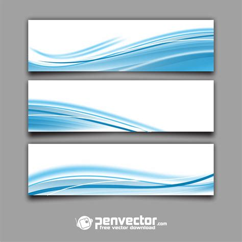 vector header tutorial abstract background header blue wave free vector vectorpic