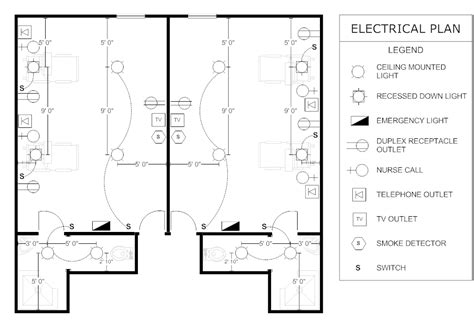 exle image electrical plan patient room