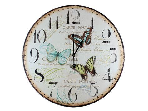 Butterfly Hanging Wall Clock x large butterfly wall clock 58cm ebay
