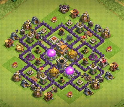 layout design coc th 7 top 50 best th7 war base farming hybrid trophy