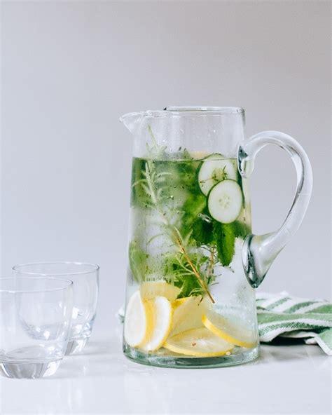 Lemon Basil Water Detox by Cucumber Herb Infused Water A Cooks