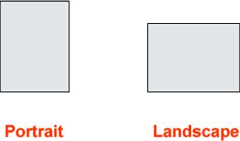 Landscape Orientation Portrait Or Landscape
