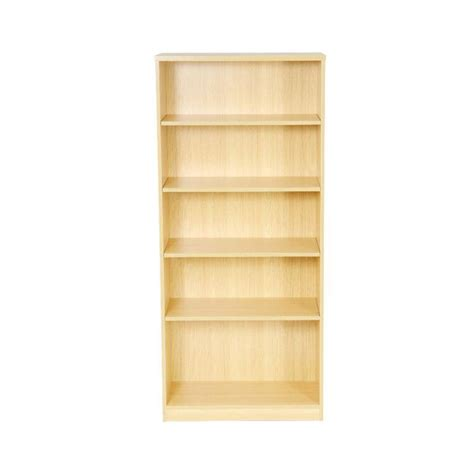 4 shelf open bookcase open bookcase available in beech or light oak wooden