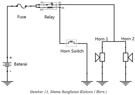 wiring diagram relay klakson choice image how to guide