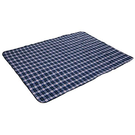 coleman picnic rug coleman 150 x 200cm large blue tartan picnic rug bunnings warehouse