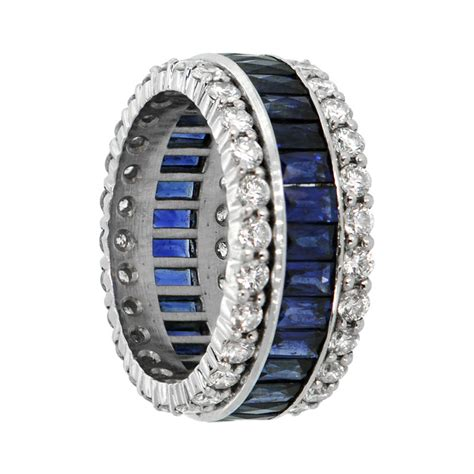 Wedding Bands With Sapphires And Diamonds by Sapphire And Wedding Band Estate Jewelry