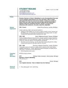 Resumes With Objectives by Marketing Resume Professional Objective