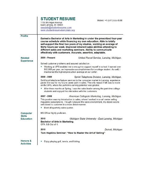 Student Resume Objective Statement Student Resume Objective
