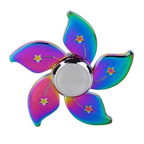 Led Fidget Spinner Spinner Led Lu Disco Edc Spiner L 1 rainbow chameleon flower metal edc fidget spinner magic