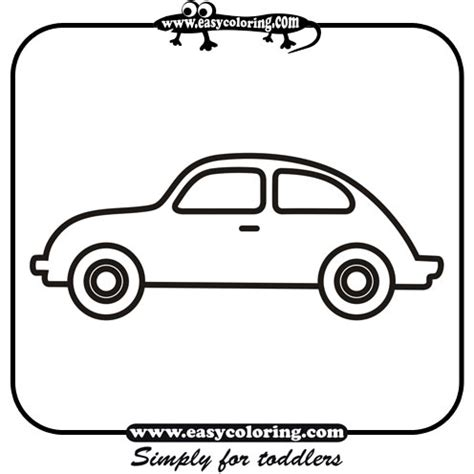 simple coloring pages of cars car four simple cars easy coloring cars for toddlers