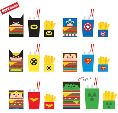 Papercraft Food Templates - happy meals foodiggity