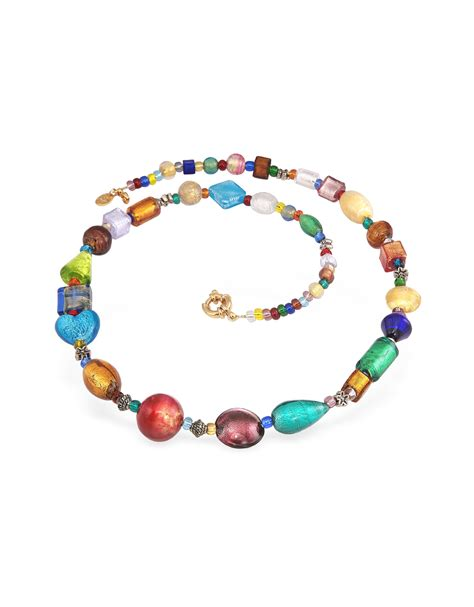 murano glass bead necklace antica murrina multicolor murano glass bead