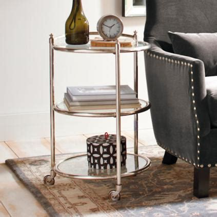 three tier side table three tier mobile side table grandin road