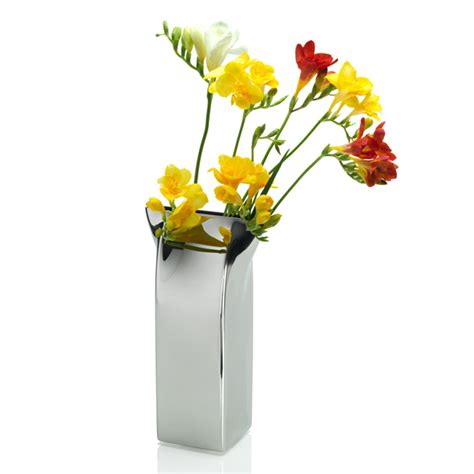 Flower Vase by Alessi Pinch Flower Vase At Amara