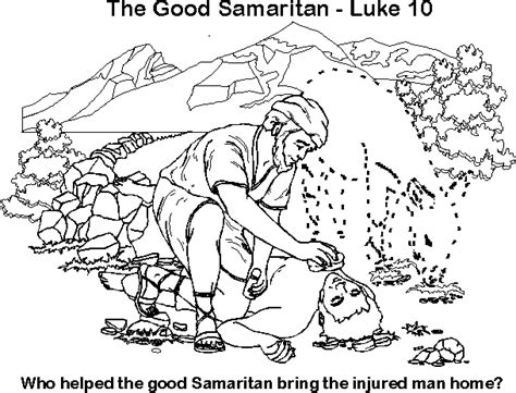 coloring pages for the samaritan free coloring page samaritan bible jesus and his