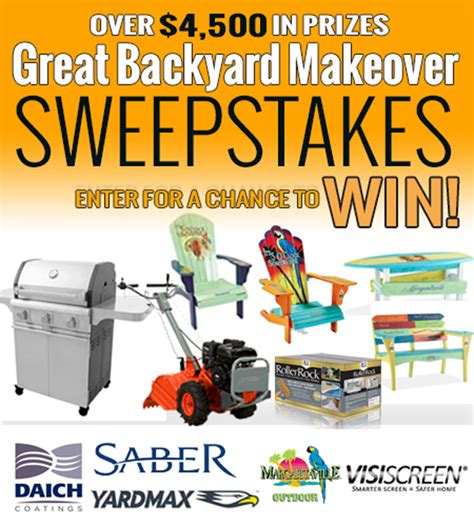 Backyard Makeover Sweepstakes - the 2017 great backyard makeover sweepstakes on the house