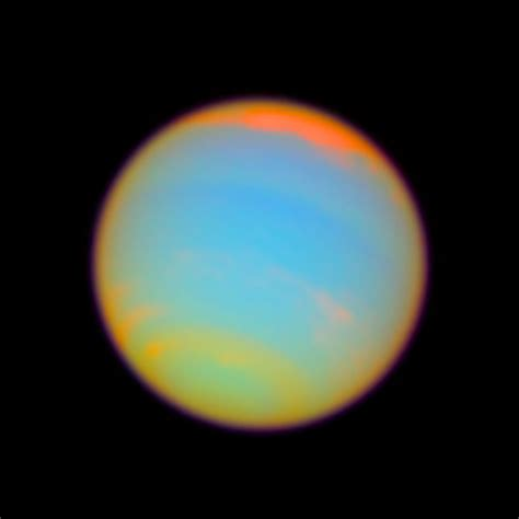 what color is neptune neptune enhanced color esa hubble