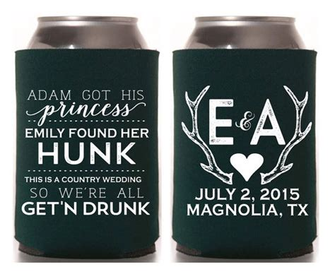 Wedding Gift Koozies by Best 25 Country Wedding Favors Ideas On