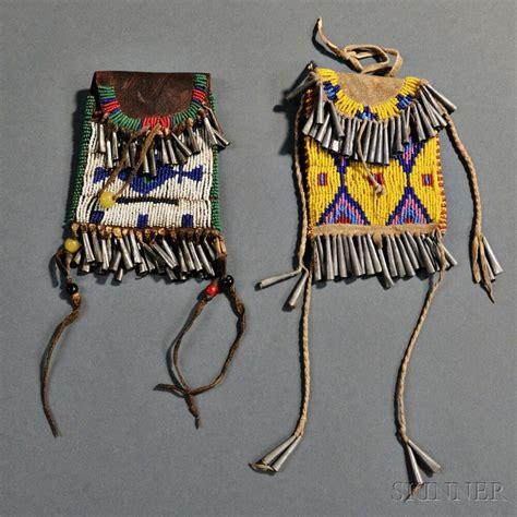 beadwork sioux two sioux beaded pouches beadwork
