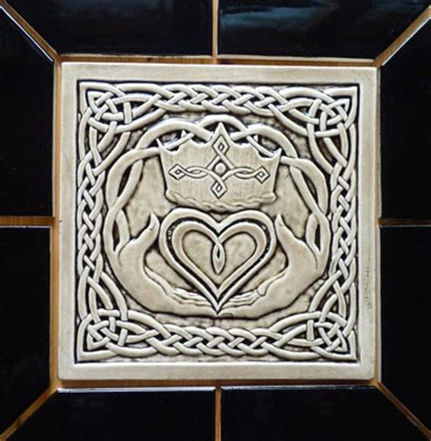 Handmade Decorative Tiles - decorative handmade ceramic tile celtic claddagh
