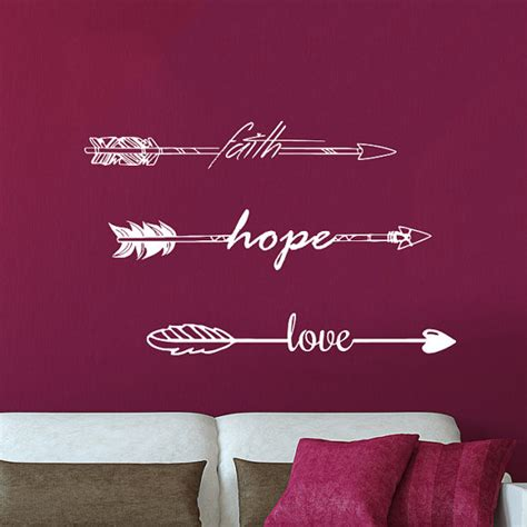 Bible Verse Stickers For Walls wall decals quotes faith hope love arrow quote by