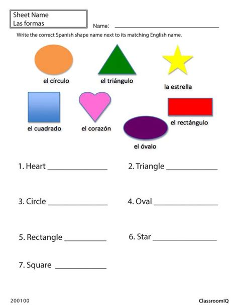 printable shapes in spanish spanish shapes worksheet free worksheets library