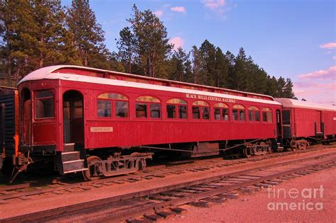 Western Home Decore by Old Red Train Car Photograph By John Malone