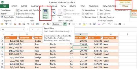 layout tab excel 2013 table slicers in excel excel bytes expert excel