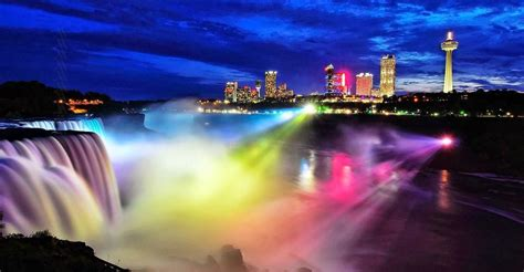 niagara falls lights niagara falls illumination lights upgraded niagara falls