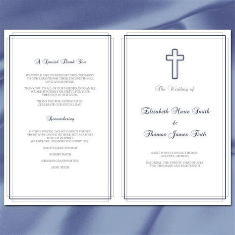 catholic mass card template best 20 catholic wedding programs ideas on