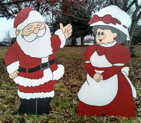 santa and mrs santa christmas yard art decorations christmas